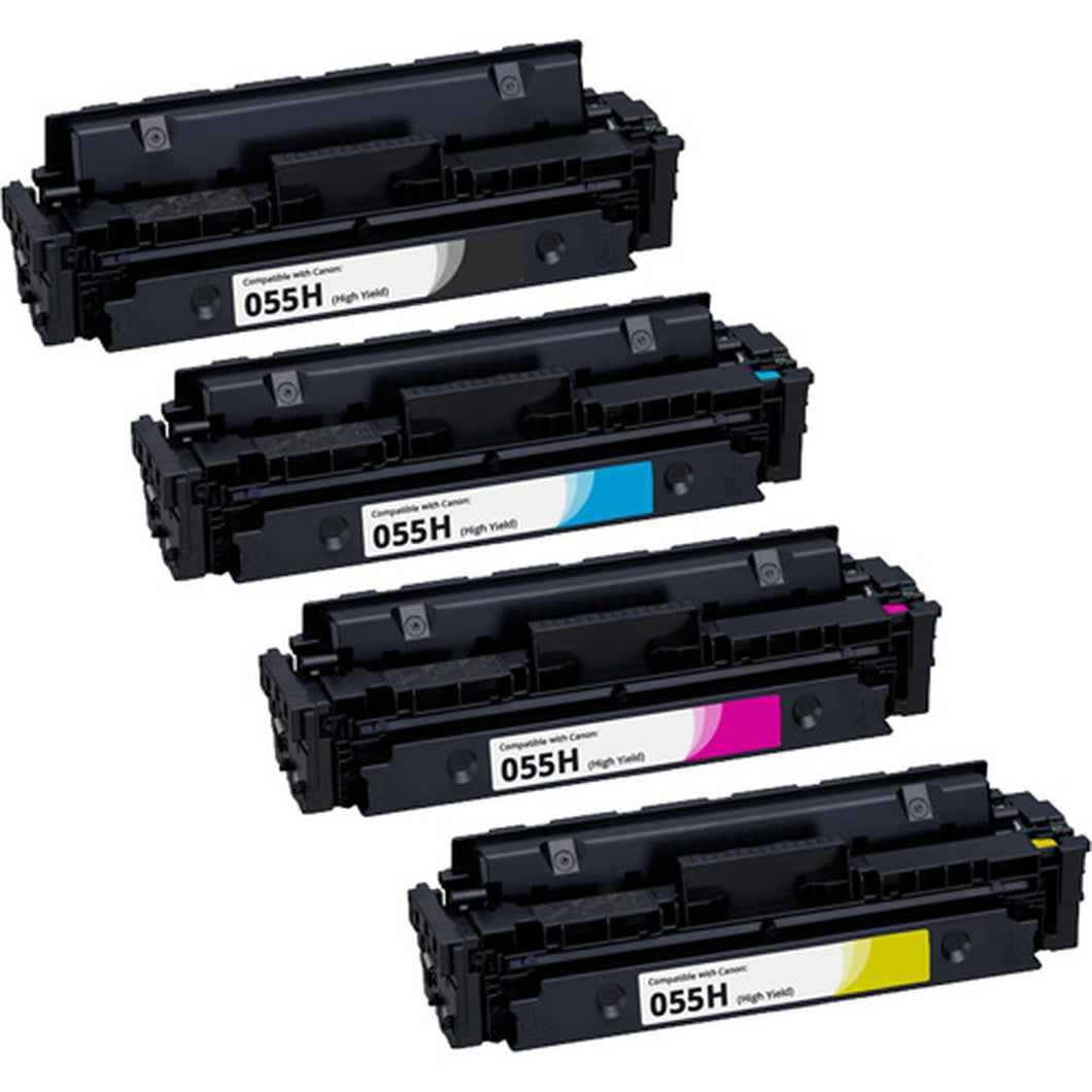 Canon 055H Toner Cartridge Combo High Yield BK/C/M/Y