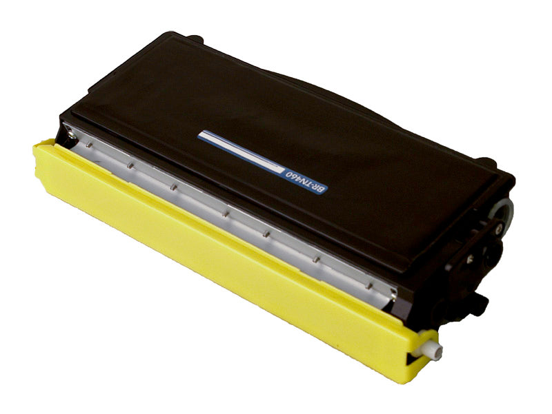 Brother TN460 Toner Cartridge, Compatible Black  High Yield