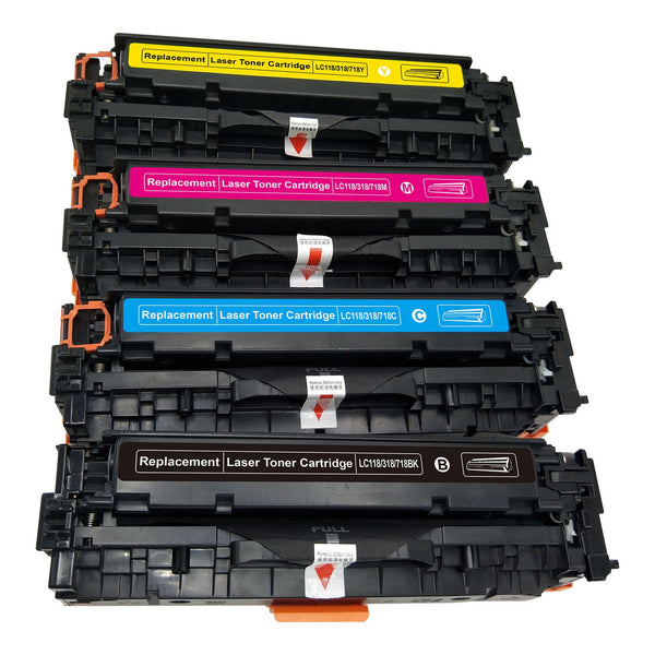Canon 118 Compatible Toner Cartridge Combo BK/C/M/Y