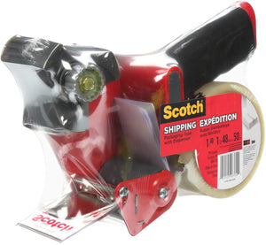 "Scotch Shipping Packing Tape, 1.88"" x 50m, 1 Roll with Dispenser"