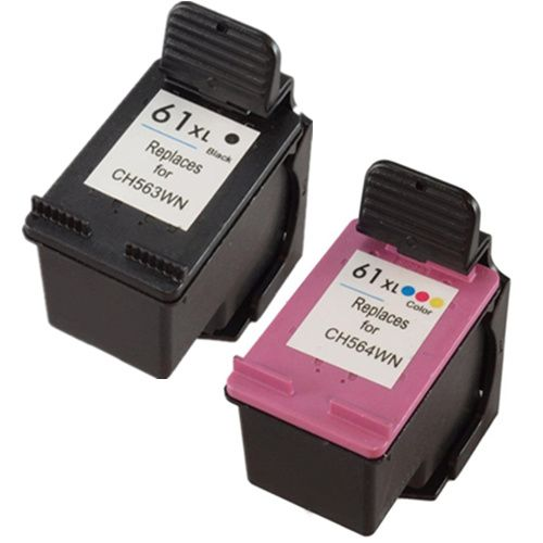 HP 61XL Compatible Ink Cartridge High Yield Black and Color Combo CH563WN CH564WN