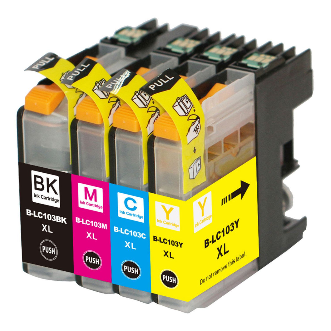 Brother MFC-J6520DW Printer Compatible Ink Cartridge Combo BK/C/M/Y