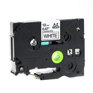 "Brother TZe-231 P-Touch Label Tape, 12mm (0.5""), Length of 8M, Black on White, Compatible"
