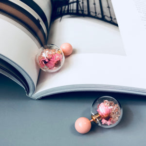 Pink Glass Ball Pin