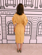 Long Yellow Wrap Dress