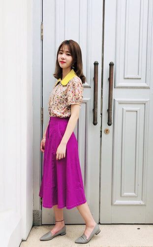 Purple Hemp Skirt