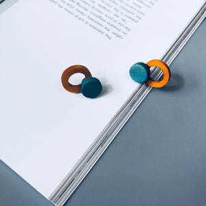 Colourful Circle Wood Pin
