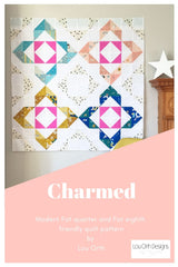 Charmed quilt pattern by Lou Orth. Modern baby quilt pattern