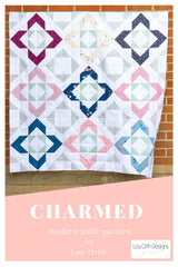 Charmed quilt pattern in mmall lap size by Lou Orth Designs