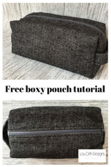 Boxy pouch tutorial by Lou Orth