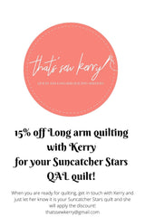 Kerry Long arm quilting discount