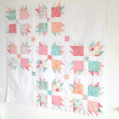 Paw Tracks baby sized quilt pattern by Lou Orth