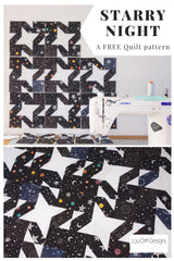 Starry Night quilt pattern free from Lou Orth Designs