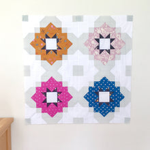 Load image into Gallery viewer, Vintage Tiles - Modern quilt block by Lou Orth Designs