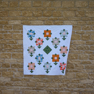 wildflower Meadow baby quilt by Lou Orth Designs