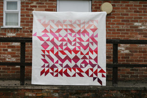 Modern Ombre solid quilts by Lou Orth Designs