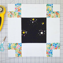 Load image into Gallery viewer, Atrium quilt block in Cotton and Steel