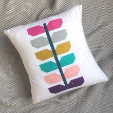 Load image into Gallery viewer, Sprout quilt pattern cushion. Modern quilt design