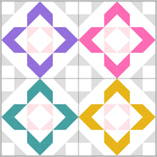 Load image into Gallery viewer, Charmed baby quilt by Lou Orth Designs