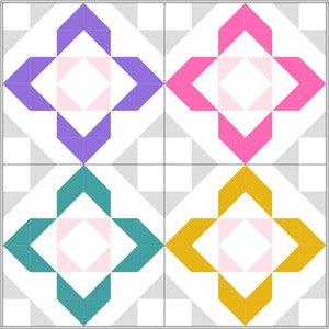 Charmed baby quilt by Lou Orth Designs