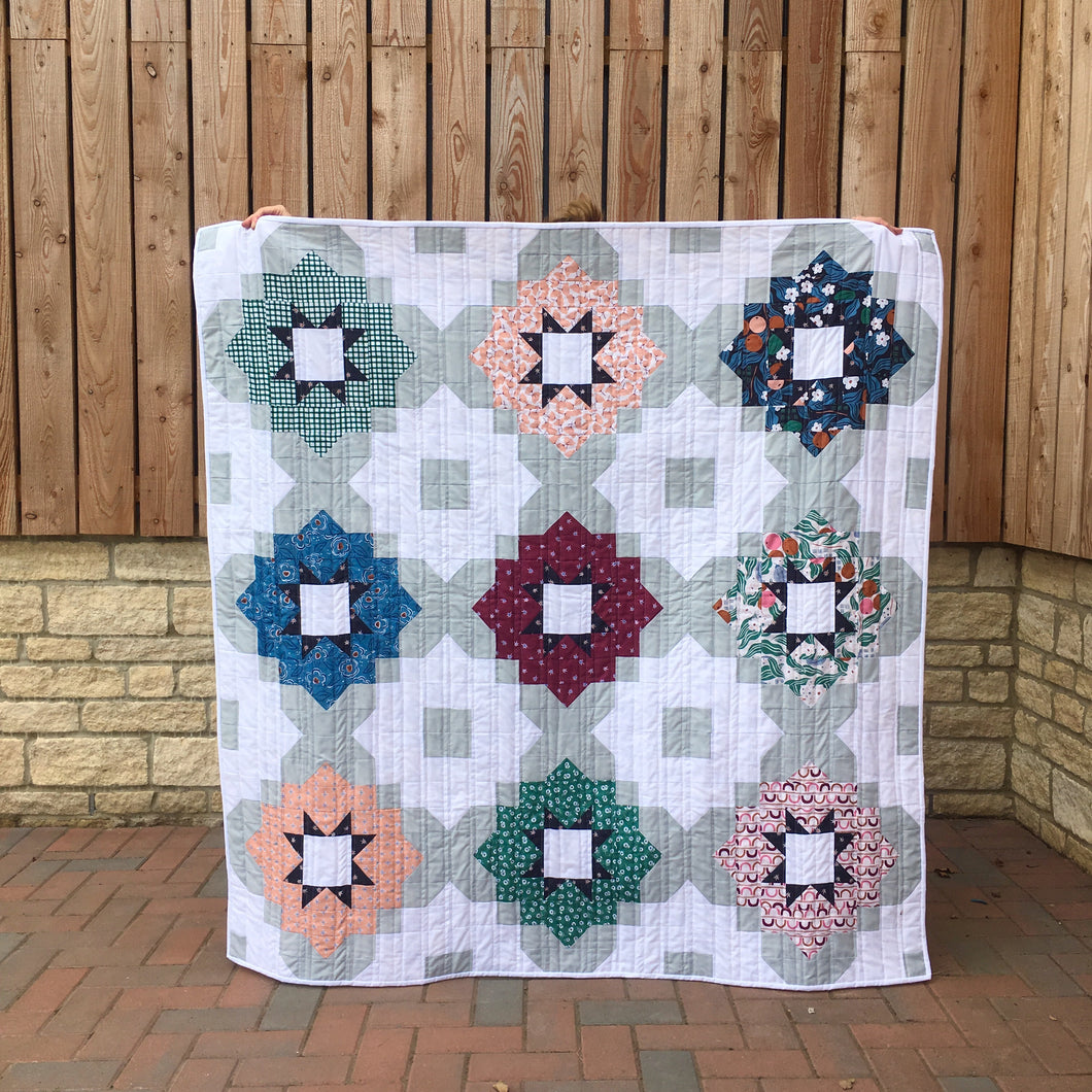 Vintage Tiles quilt pattern by Lou Orth Designs