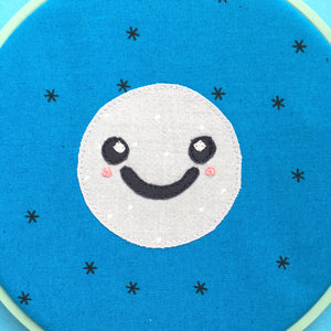 kawaii moon applique pattern