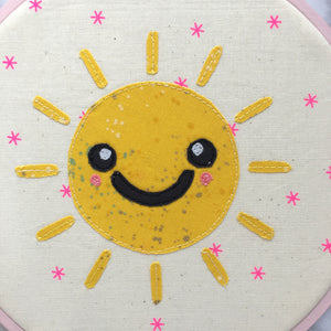 modern sun applique pattern