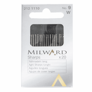 Milward hand sewing needles - No.9 Sharps