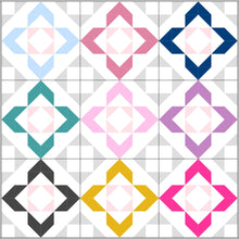 Load image into Gallery viewer, Charmed quilt pattern by Lou orth designs