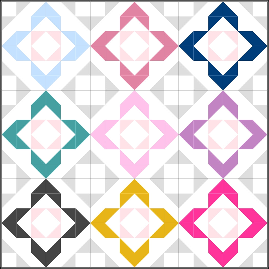 Charmed quilt pattern by Lou orth designs