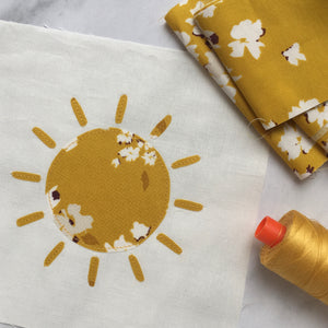 sun applique pattern
