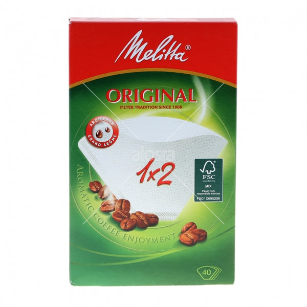 Melitta cone paper coffee filter (40 pcs) size 02