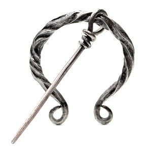 Silver Twisted Cloak Pin