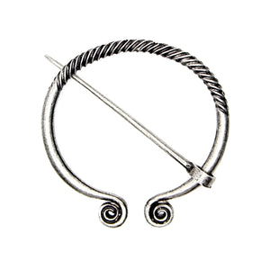 Silver Medieval Cloak Pin