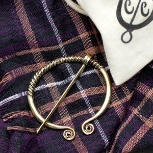 Gold Medieval Cloak Pin