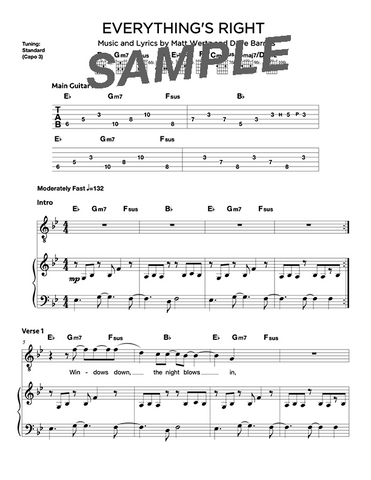 Everything's Right Chords/Sheet Music (Digital)