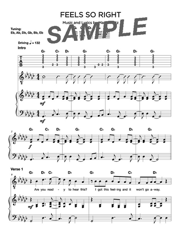 Feels So Right Chords/Sheet Music (Digital)