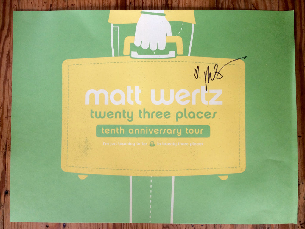 UNSIGNED Twenty-Three Places Tour Poster