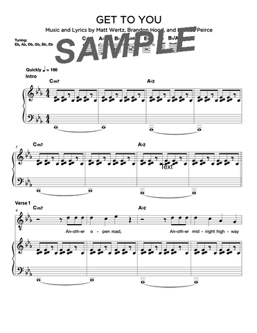 Get to You Chords/Sheet Music (Digital)
