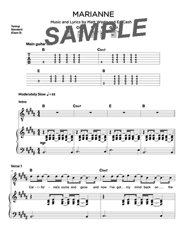 Marianne Chords/Sheet Music (Digital)