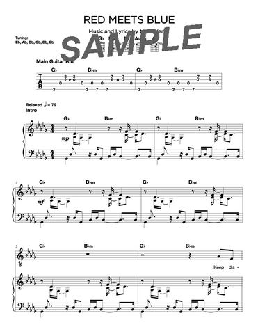 Red Meets Blue Chords/Sheet Music (Digital)