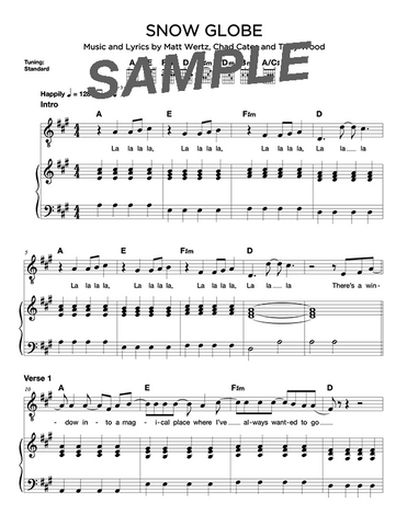 Snow Globe Chords/Sheet Music (Digital)