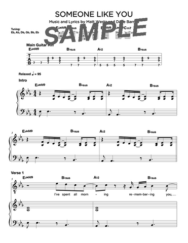 Someone Like You Chords/Sheet Music (Digital)