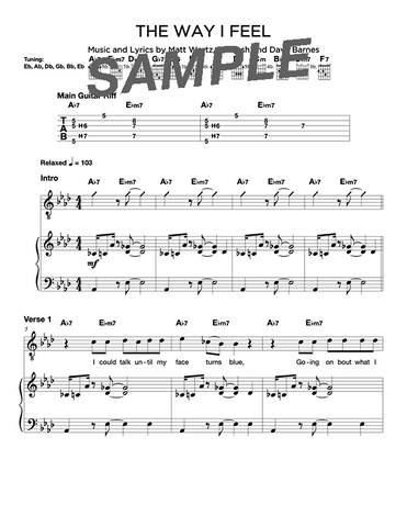 The Way I Feel Chords/Sheet Music (Digital)