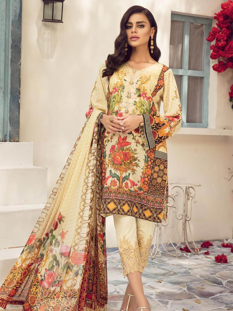 8f3ad51ba9 ... Embroidered Lawn 3 Piece Suit 04 A Lemon Knit. Reemal Khan 04 A Lemon  Knit