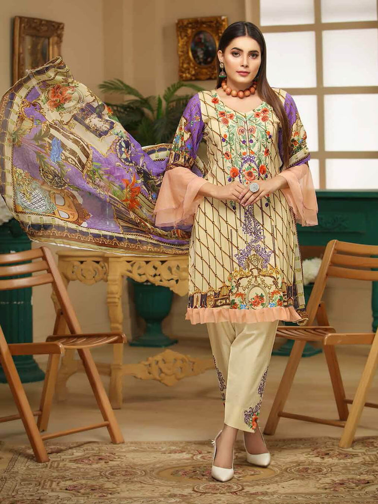 7fc0c5457e Charizma Gulmor 3PC Embroidered Lawn Suit Summer Collection GM 04 ...