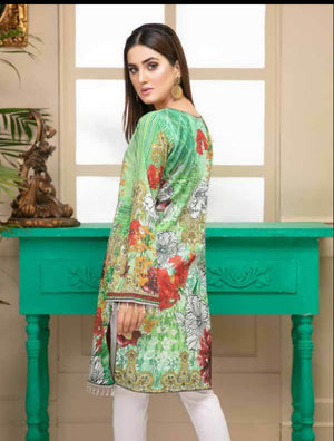 Al Kareem Digital Embroidered Lawn Kurti Collection 2019 ALK 05 - faisalfabrics-pk