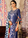 Iznik Festive Lawn Eid Collection 2019 3PC Eomroidered Suit 09 Neelam - FaisalFabrics.pk