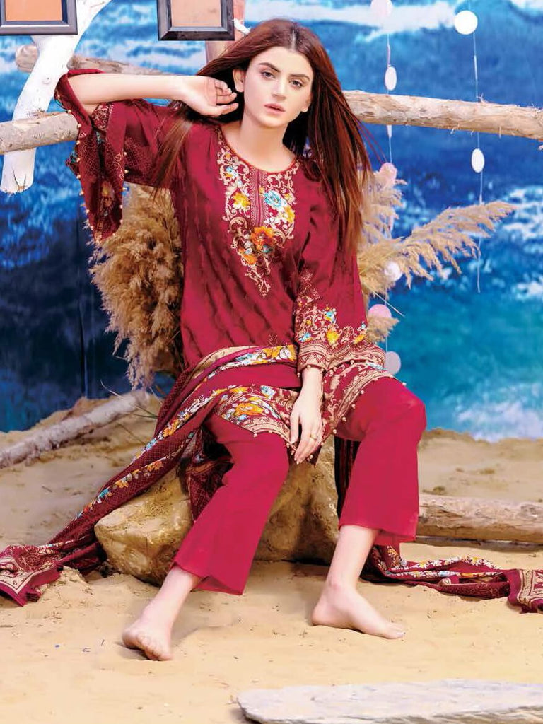 Five Star Classic Lawn Print 2019 Unstitched 4PC Suit 1225 B - FaisalFabrics.pk