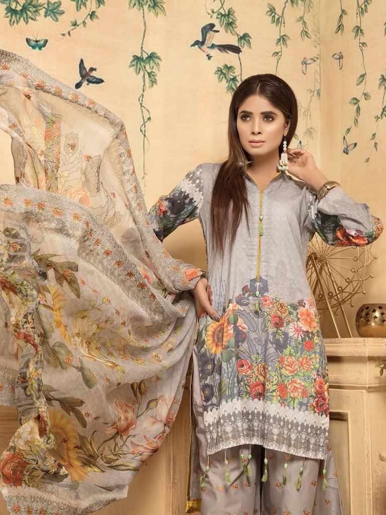 Charizma Tehzeeb 3PC Embroidered Lawn Suit Summer Collection TZ 42